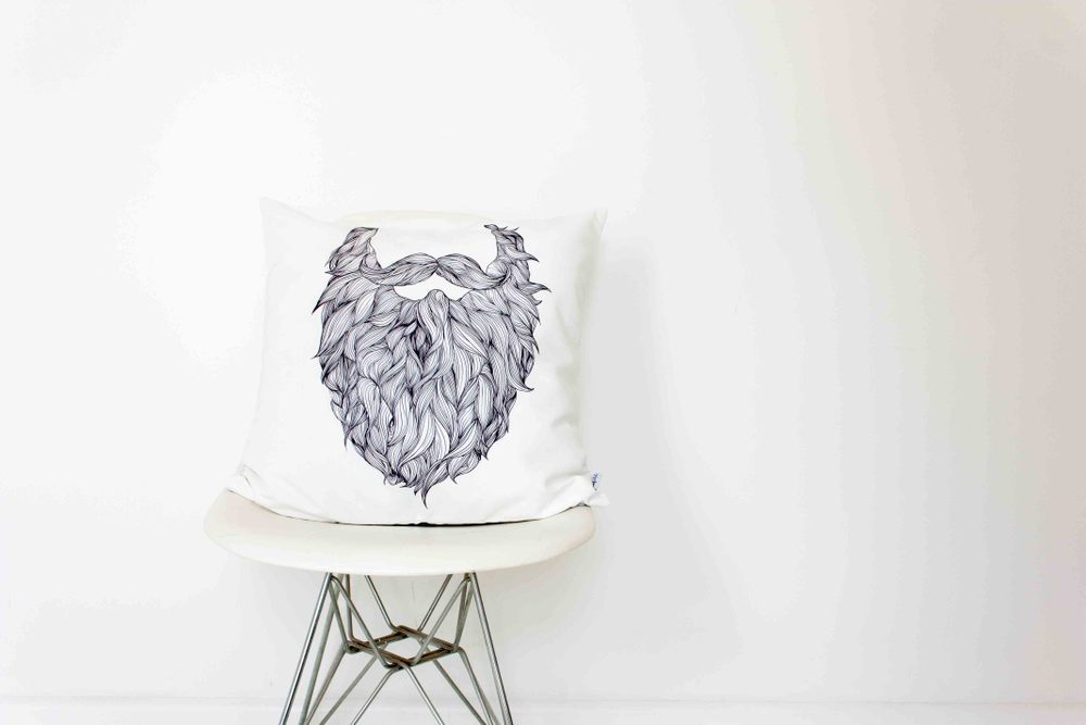 Into the fold beard cushion
