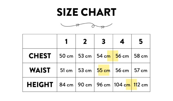 How to use a size chart when shopping online