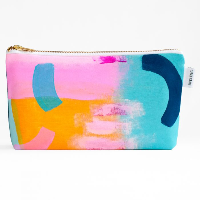 lined makeup bag